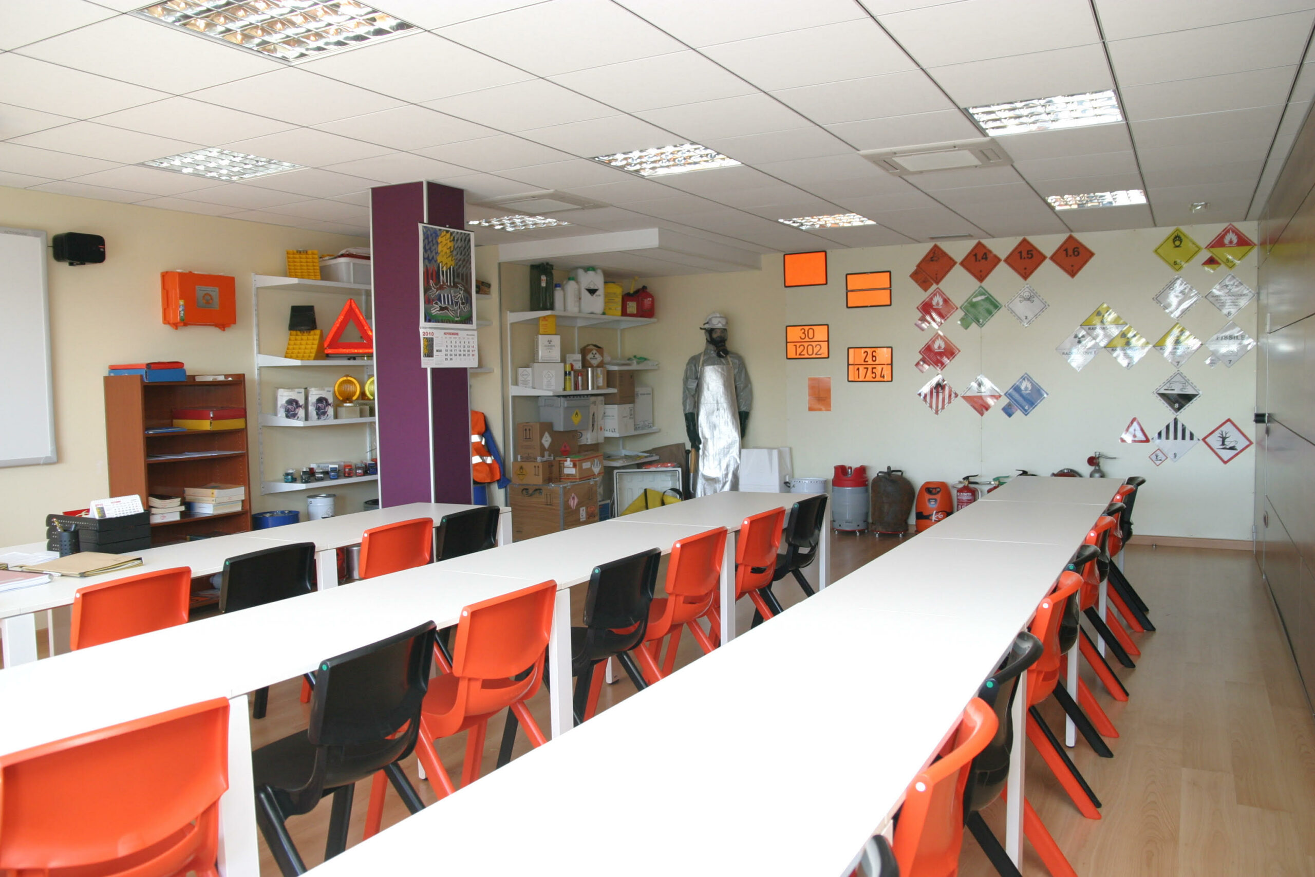 una aula de les instalacions